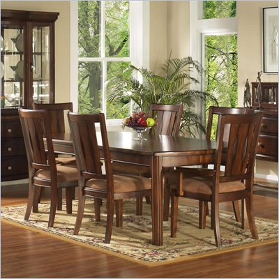 Somerton Rhythm 7 Piece Dining Set in Burnished Rum Finish