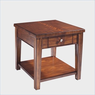 Somerton Runway Contemporary End Table in Warm Brown