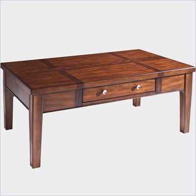 Somerton Runway Contemporary Cocktail Table in Warm Brown