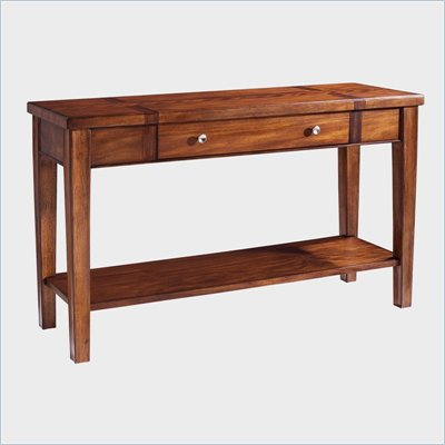 Somerton Runway Contemporary Sofa Table in Warm Brown
