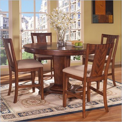 Somerton Runway Contemporary Gathering Table 5 Piece Pub Set
