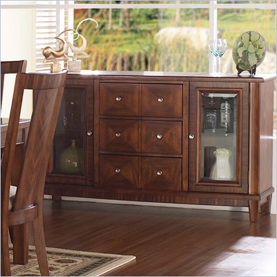 Somerton Runway Contemporary Side Server Buffet in Warm Brown