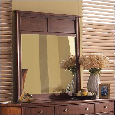 Somerton Runway Contemporary Mirror in Warm Brown