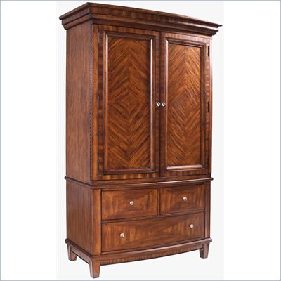 Somerton Runway Contemporary TV Armoire in Warm Brown
