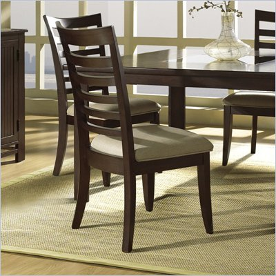 Somerton Serenity Contemporary Fabric Dining Side Chair in Burgundy