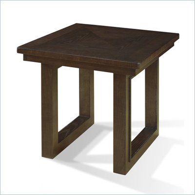 Somerton Shadow Ridge Modern End Table in Chocolate