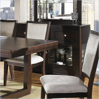 Somerton Shadow Ridge Modern Buffet Side Server in Chocolate