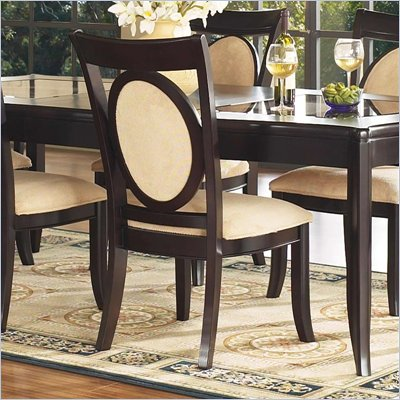 Somerton Signature Upholstered Dining Side Chair in Mocha Finish
