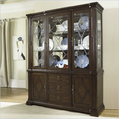 Somerton Villa Madrid China Display Cabinet in Dusk Brown Finish