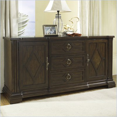 Somerton Villa Madrid Side Server Buffet in Dusk Brown Finish