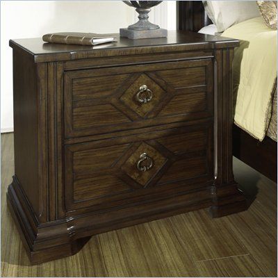 Somerton Villa Madrid 2 Drawer Night Stand in Dusk Brown Finish