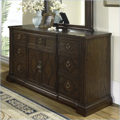 Somerton Villa Madrid 7 Drawer Triple Dresser in Dusk Brown