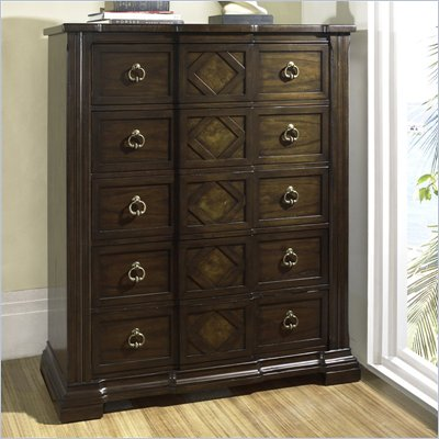 Somerton Villa Madrid 5 Drawer Chest in Dusk Brown Finish