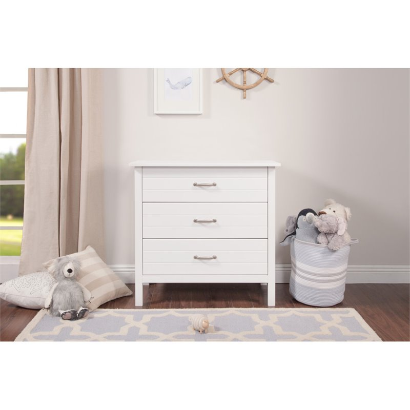 DaVinci Asher 3 Drawer Dresser in White