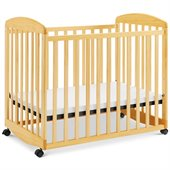 DaVinci Alpha Mini Rocking Mobile Wood Baby Crib in Natural