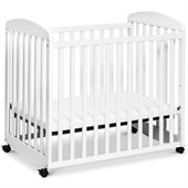 DaVinci Alpha Rocking Mini Mobile Wood Baby Crib in White