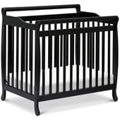 DaVinci Emily Mini 2-in-1 Convertible Wood Baby Crib in Ebony