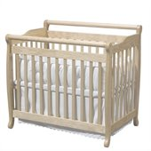 DaVinci Emily Mini 2-in-1 Convertible Wood Baby Crib in Natural 