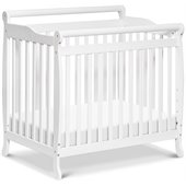 DaVinci Emily Mini 2-in-1 Convertible Wood Baby Crib in White