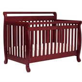 DaVinci Emily 4-in-1 Convertible Wood Baby Crib w/ Toddler Rail in Cherry