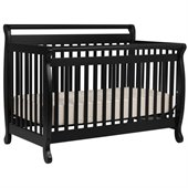 DaVinci Emily 4-in-1 Convertible Wood Baby Crib w/ Toddler Rail in Ebony