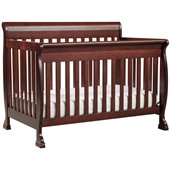 DaVinci Kalani 4-in-1 Convertible Wood Baby Crib w/ Toddler Rail in Cherry