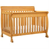 DaVinci Kalani 4-in-1 Convertible Wood Baby Crib w/ Toddler Rail in Honey Oak