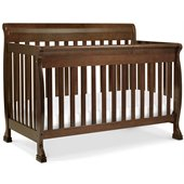 DaVinci Kalani 4-in-1 Convertible Wood Baby Crib w/ Toddler Rail in Espresso