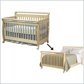 DaVinci Emily 4-in-1 Convertible Crib Set w/ Full/Twin Size Bed Rail in Natural