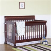 DaVinci Kalani 4-in-1 Convertible Crib Set w/ Full/Twin Size Bed Rail in Cherry