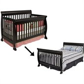 DaVinci Kalani 4-in-1 Convertible Crib Set w/ Full/Twin Size Bed Rail in Ebony