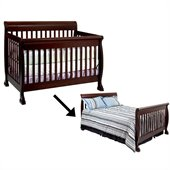 DaVinci Kalani 4-in-1 Convertible Crib Set w/ Full/Twin Size Rail in Espresso