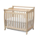 DaVinci Emily Mini Convertible Wood Crib Set w/ Twin Size Bed Rail in Natural
