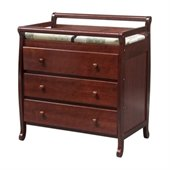 DaVinci Emily Pine Wood 3-Drawer Changing Table in Cherry