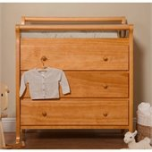 DaVinci Emily Pine Wood 3-Drawer Changing Table in Honey Oak