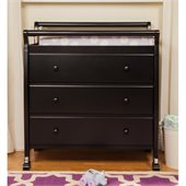 DaVinci Kalani Pine Wood 3-Drawer Changing Table in Ebony