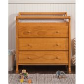 DaVinci Kalani Pine Wood 3-Drawer Changing Table in Honey Oak