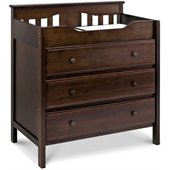 DaVinci Jayden 3 Drawer Changer in Espresso