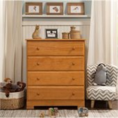 DaVinci Kalani 4 Drawer Chest in Honey Oak Finish