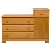 DaVinci Kalani Wood 4 Drawer Combo Chest With Shelf in Honey Oak Finish