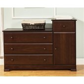DaVinci Kalani 4 Drawer Combo Chest in Espresso Finish
