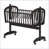 DaVinci Futura Wood Baby Cradle in Ebony