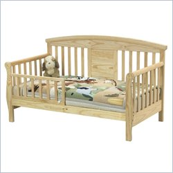 Davinci Elizabeth Ii Convertible Wood Toddler Bed In Natural Picture