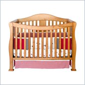 DaVinci Parker 4 in 1 Convertible Wood Baby Crib w/ Toddler Rail in Oak