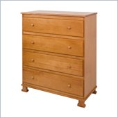 DaVinci Parker 4 Drawer Chest in Oak Finish