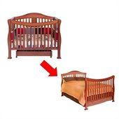 DaVinci Parker 4 in 1 Convertible Baby Crib w/ Full Size Bed Rail Kit in Cherry