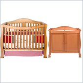 DaVinci Parker 4-in-1 Convertible Wood Crib Nursery Set w/ Toddler Rail in Oak