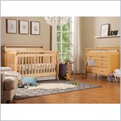 DaVinci Emily 4-in-1 Convertible Wood Crib Set w/ Toddler Rail in Natural