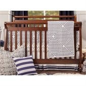 DaVinci Emily 4-in-1 Convertible Wood Baby Crib w/ Toddler Rail in Espresso