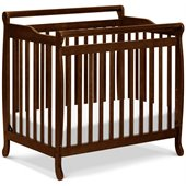DaVinci Emily Mini 2-in-1 Convertible Wood Baby Crib in Espresso